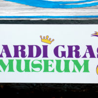 mardi gras museum sign 7636